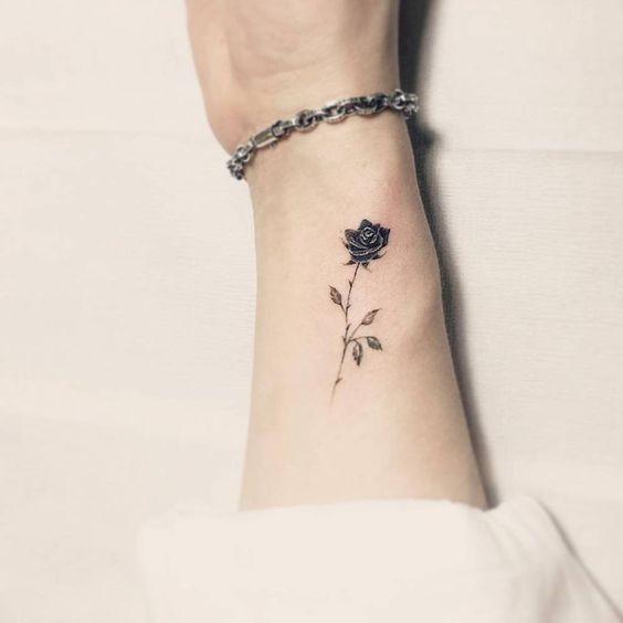 Tatuaje De Rosa Negra Sfb